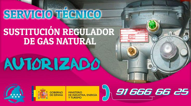 sustitución regulador de gas natural en Boadilla del Monte