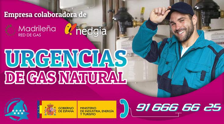Urgencias de gas natural en Boadilla del Monte